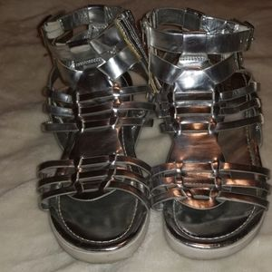 👡 Silver Gladiator sandals size 7.5 👡
